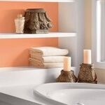 Bathtub With Tangerine Shelves