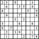 Janric Classic Sudoku for Apr 20, 2018
