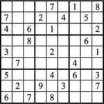 Janric Classic Sudoku for Apr 21, 2018