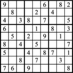 Janric Classic Sudoku for Jun 25, 2018