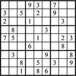 Janric Classic Sudoku for Aug 18, 2018
