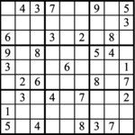 Janric Classic Sudoku for Sep 25, 2018