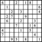 Janric Classic Sudoku for Sep 19, 2018
