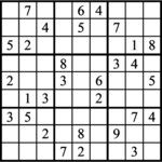 Janric Classic Sudoku for Mar 07, 2021
