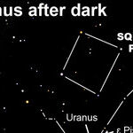 Finding Uranus after Dark