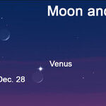 Moon and Venus at Dusk
